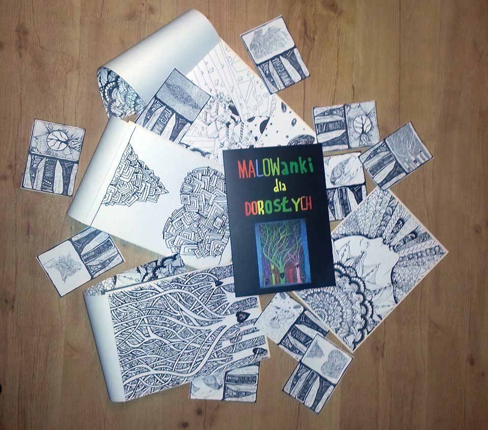 Malowanki Dla Doroslych Papier 140g M2 Format A4 5996083724 Oficjalne Archiwum Allegro Coloring Books Projects Papier
