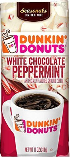 Dunkin' Donuts White Chocolate Peppermint Ground Coffee, 11 oz