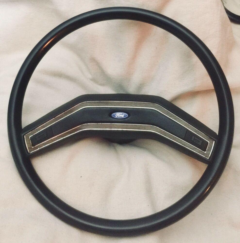 73 79 Ford Truck Steering Wheel F150 Bronco F250 F350 F100 Black W Wood Trim Oem Ebay Ford Trucks Ford Trucks F150 79 Ford Truck