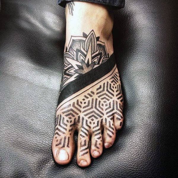 90 Foot Tattoos For Men – Step Into Manly Design Ideas