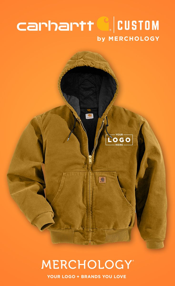 Get Your Logo On Carhartt Jackets And Hoodies At Merchology Carhartt Jacket Carhartt Mens Jacket Carhartt [ 1200 x 735 Pixel ]
