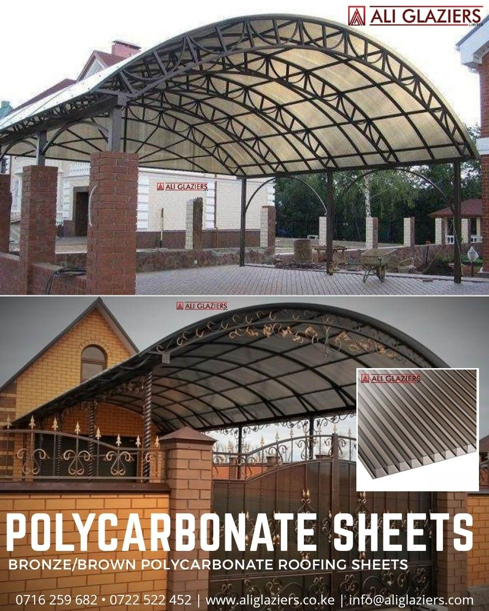 Brown Bronze Polycarbonate Sheets In Nairobi In 2020 Roofing Sheets Polycarbonate Roofing