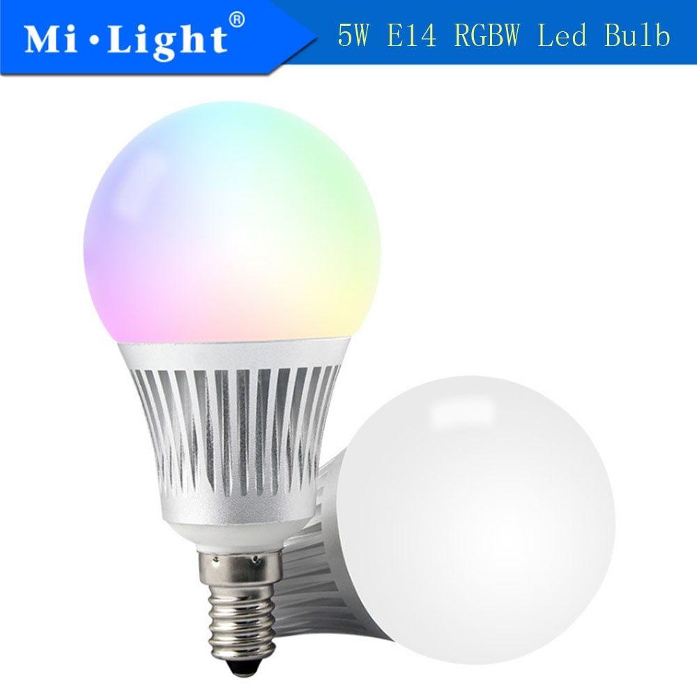 Universe Of Goods Buy Milight Fut013 5w E14 Rgb Cct Led Light 2 4g Wireless Led Lamp 2700k 6500k Dimmable 2 In 1 Smart Mi Light Led With Images Led Lights Led Bulb Lamp