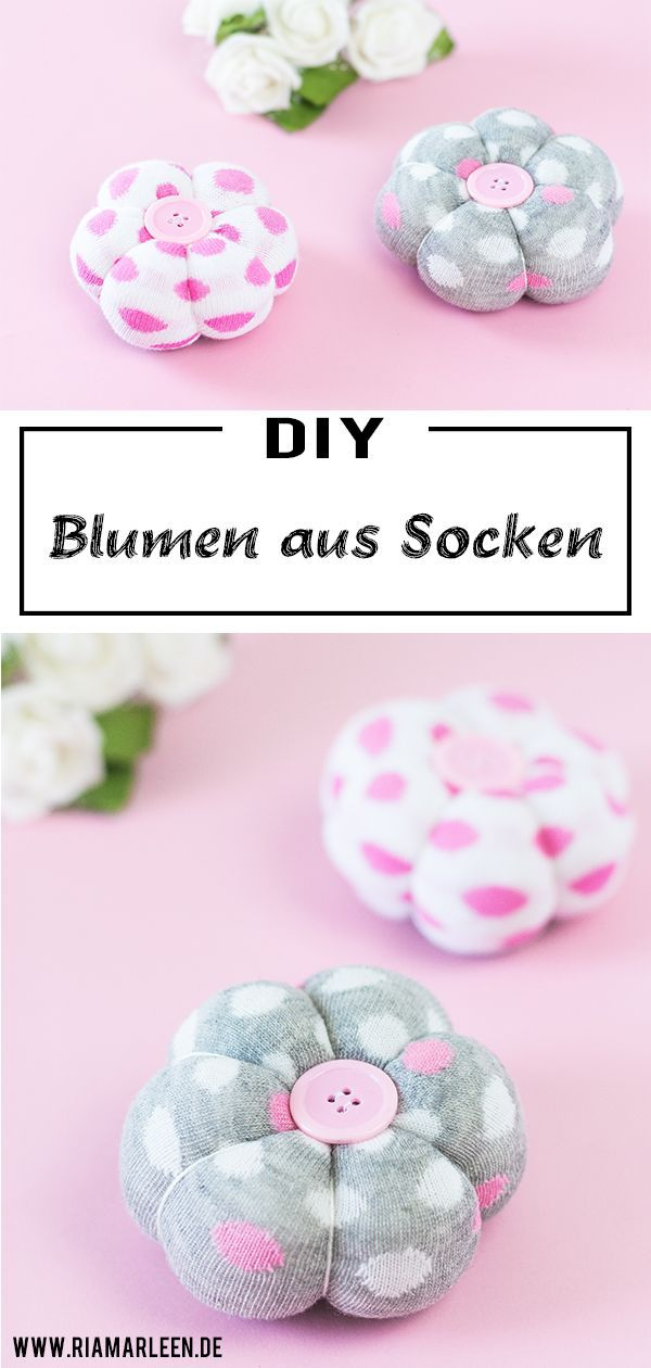 DIY decorating flowers from socks - great upcycling idea for socks#decorating #diy #flowers #great #idea #socks #upcycling