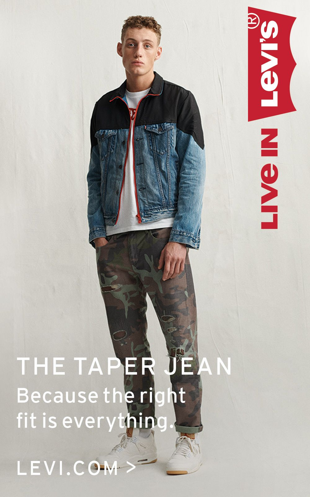 check out e361d b559c The Taper Jean is cut for a cooler, more casual look ...