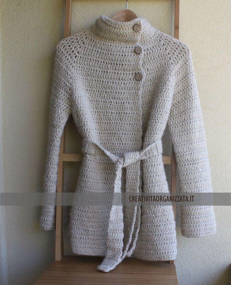 Cappottino A Uncinetto Spiegazioni Crochet Crochet Blouse