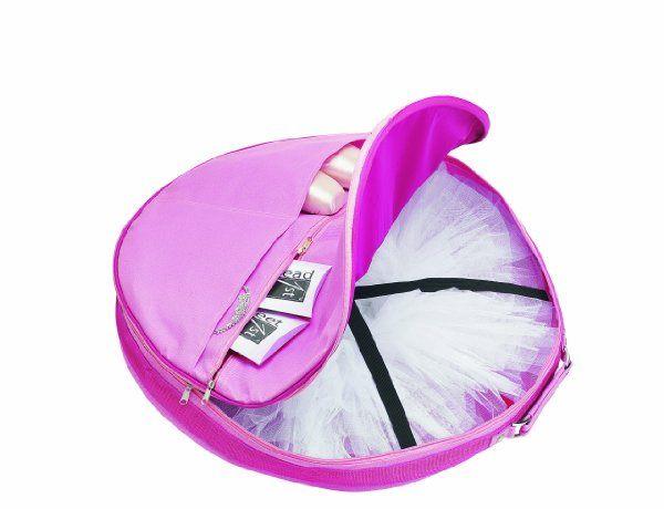 59bf74e2bb2b Dance and Shop Bags Womens Ballet Shoes Pancake Tutu Zip Around Bag ...