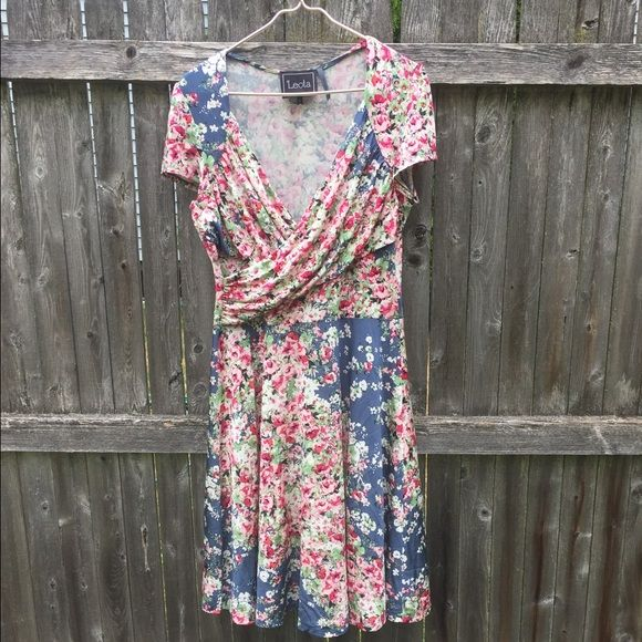 Flower Boutique Dress Stretchy floral print dress, only worn for this photo shoot and one other time. Dresses Midi