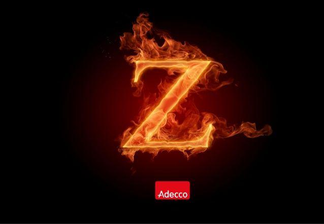 Adecco Coffee Morning Apr 2014 Generation Z Fire Typography Z Wallpaper Typography Alphabet