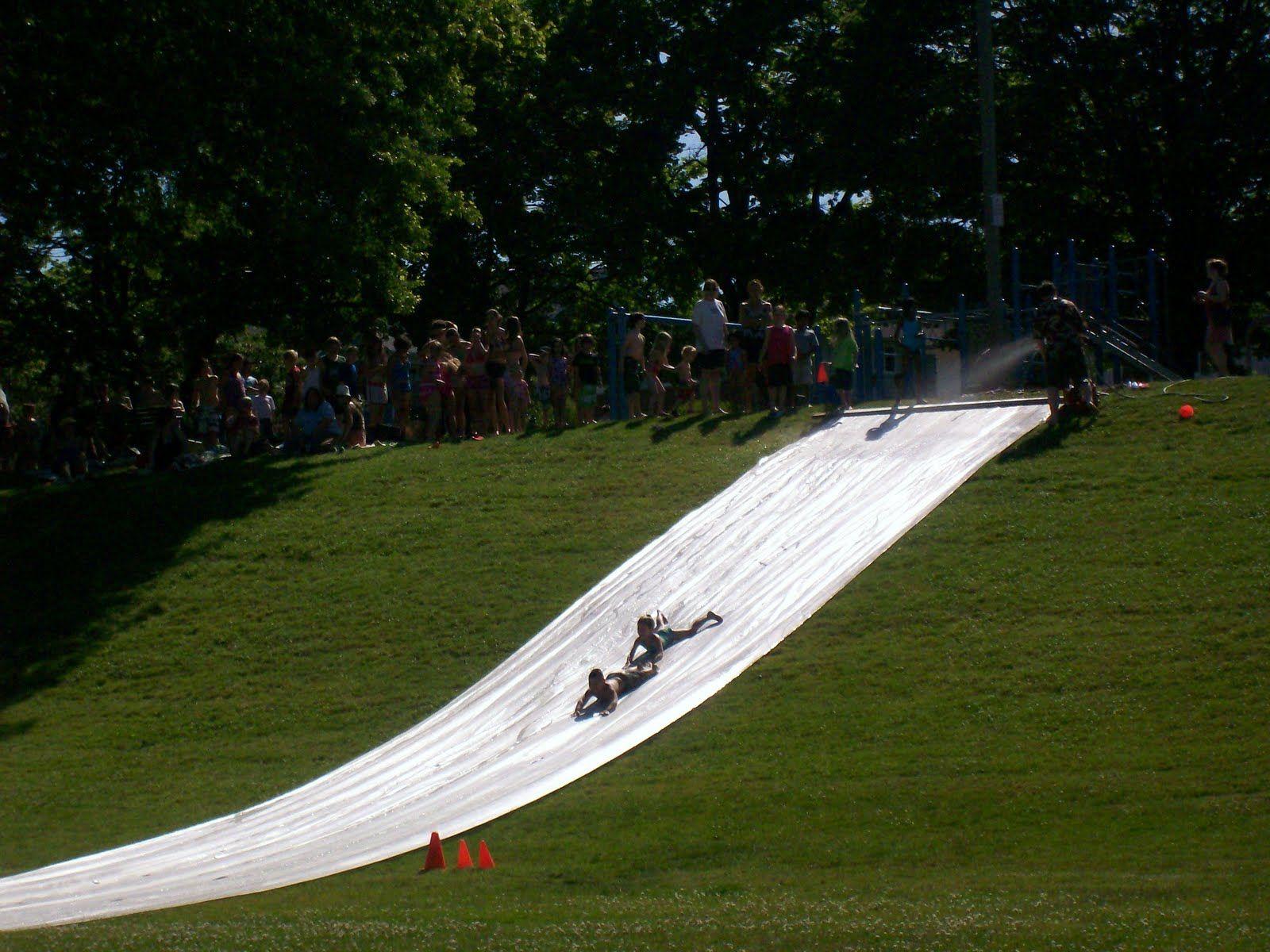 homemade waterslides   HALFWAY TO SIXTY: The Super Slip N ...