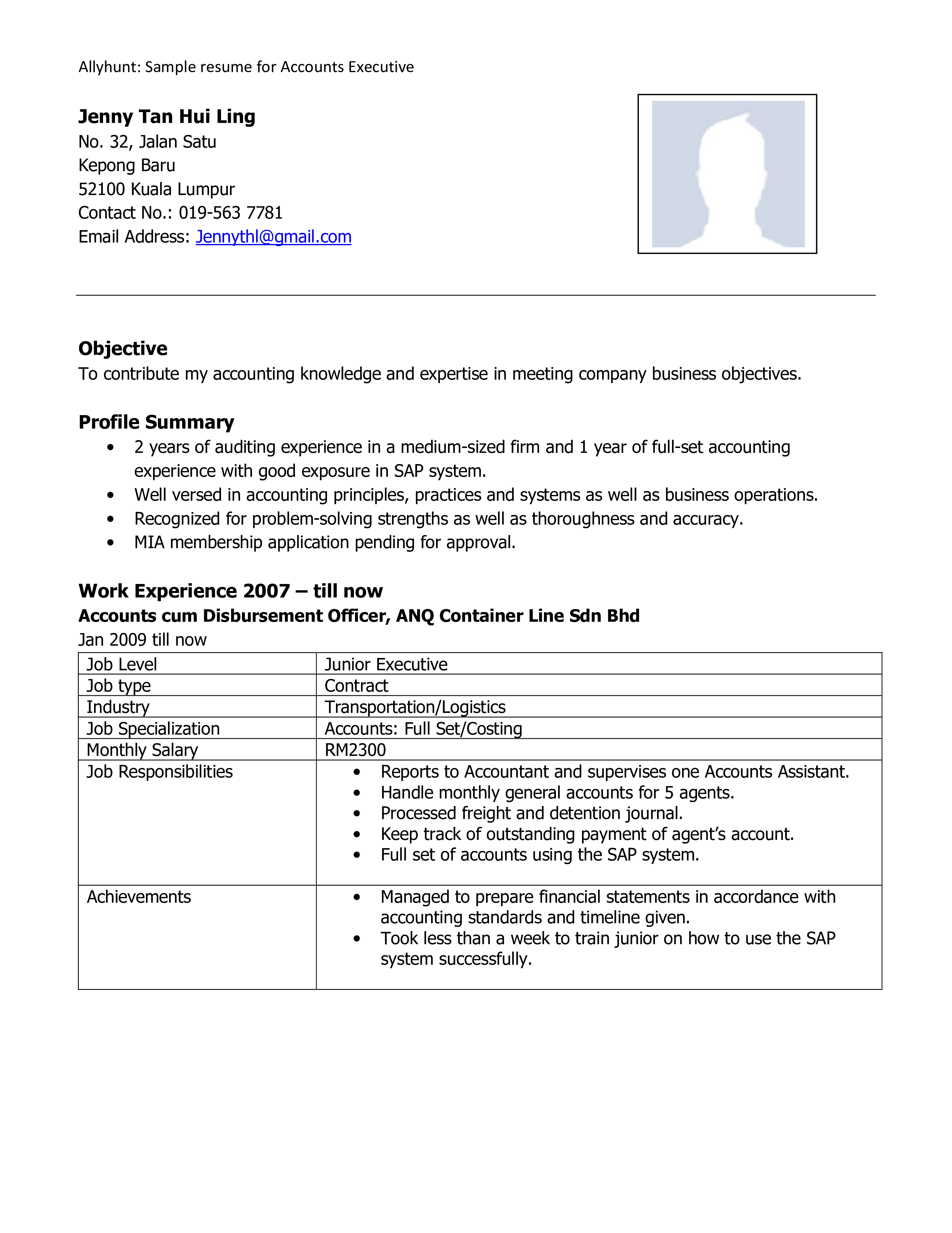 Account Executive Profile Resume How To Draft An Account Executive Profile Resume Download This Account Executive Account Executive Resume Templates Resume