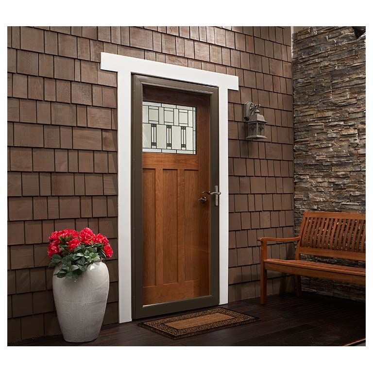 Visit The Home Depot to buy Andersen 3000 Series 36 in. RH Black Fullview Storm Door Oil Rubbed Bronze Hardware with Fast and Easy Installation System  sc 1 st  Pinterest & 3000 series fullview storm door | For the Home | Pinterest | Storm ...