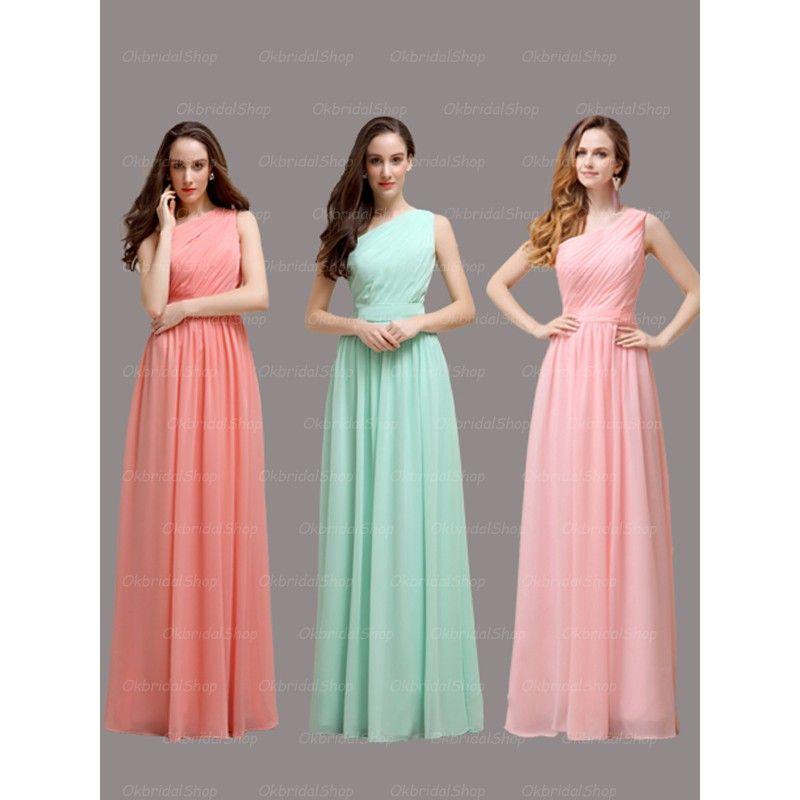 One+shoulder+bridesmaid+dresses,+long+bridesmaid+dresses,+chiffon+ ...