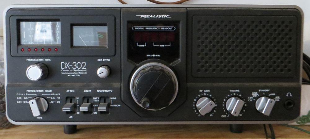 Realistic Dx 302 Radio Quartz Synthesized Shortwave Communication