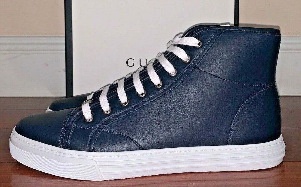 Gucci Mens Blue Calfskin Micro Soft