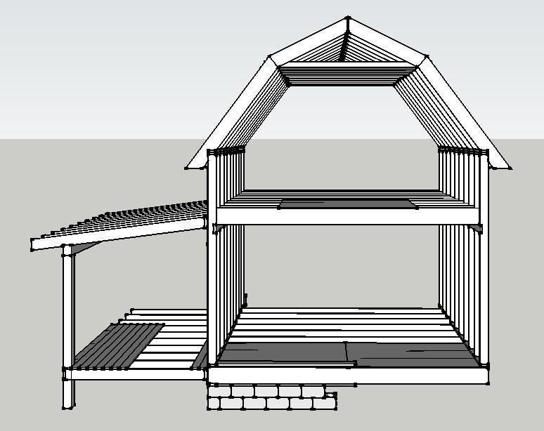 balloon framed gambrel roof | Tiny house | Pinterest | Gambrel ...