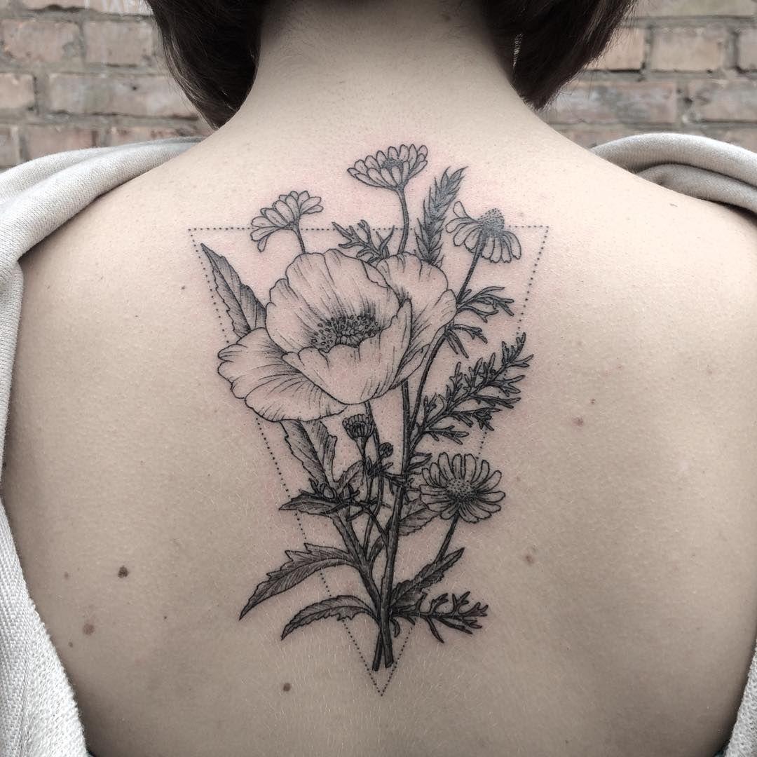 bouquet in ink motif pr couenne pinterest tatouages jolis tatouages et tatouage fleur. Black Bedroom Furniture Sets. Home Design Ideas
