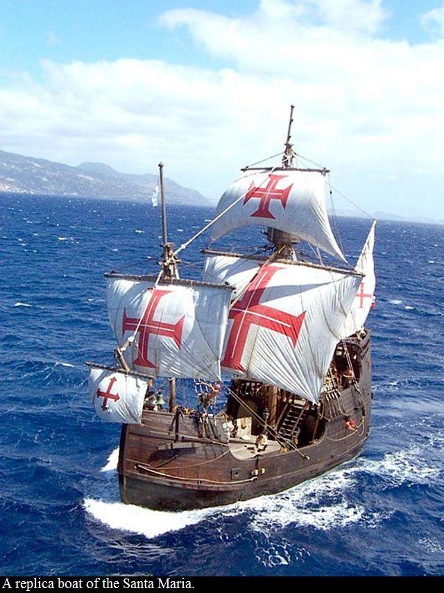 25 December 1492 Christopher Columbus Flagship The Santa Maria Runs Aground And Sinks On Hispaniola Sailing Ships Sailing Old Sailing Ships