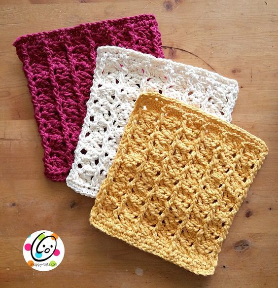 Scrubbing Ridges Dish Cloth By Heidi Yates - Free Crochet Pattern ...