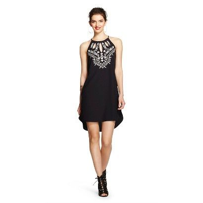 Women's Embroidered Front Shift Dress - XOXO (Junior's)