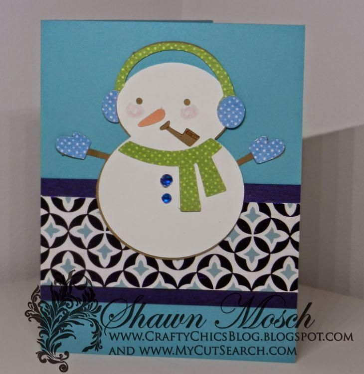 The Snowman Card Making Ideas Part - 35: The Snowman On The Front Of This Homemade Christmas Card Is Far From  Frosty. Make