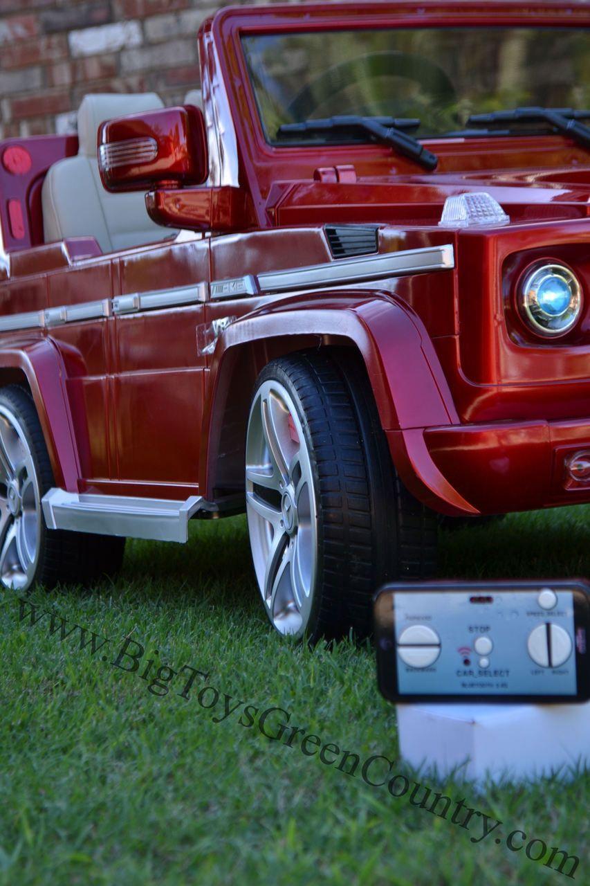 Licensed Brands® 12V Mercedes G55 Premium Ride On SUV With