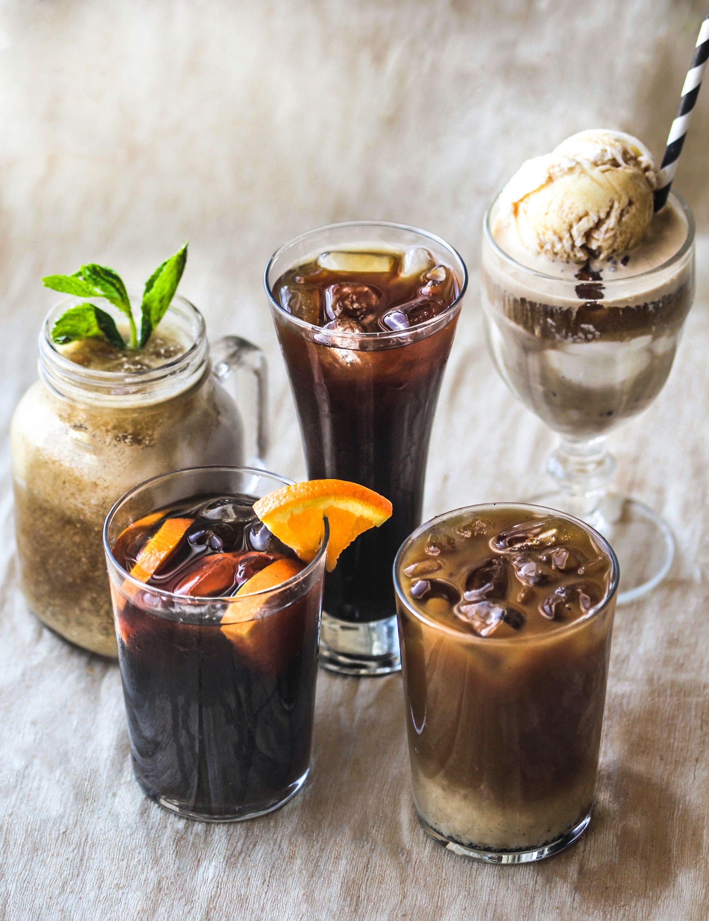 how to make homemade iced coffee latte
