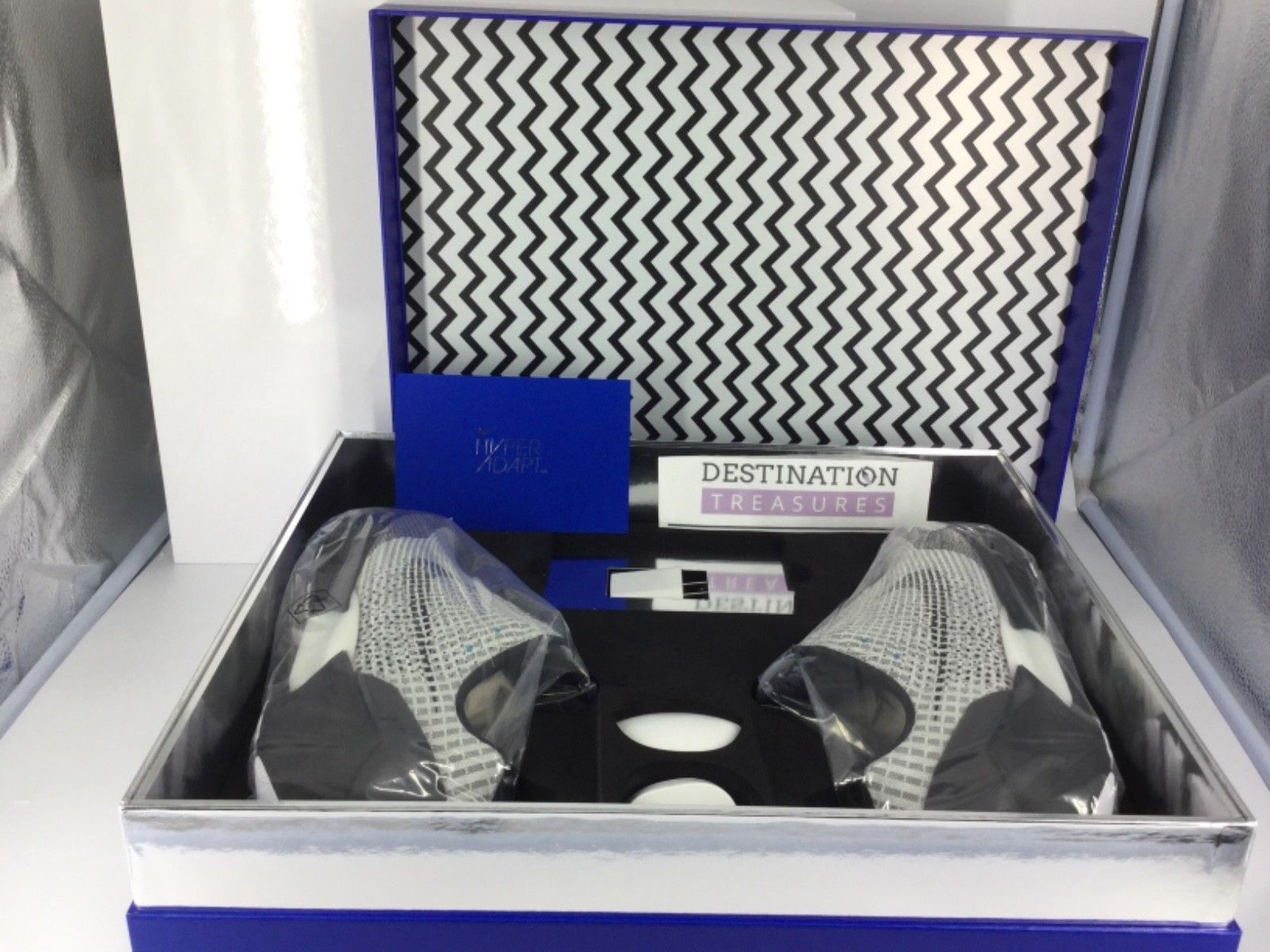 Nike HyperAdapt 1.0 EARL Sneakers Sz 9 Men Metallic Silver Authentic Hyper  Adapt