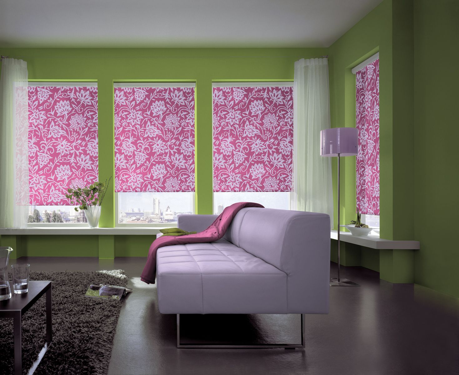 Colorful Fabric Panels or Roller Shades!