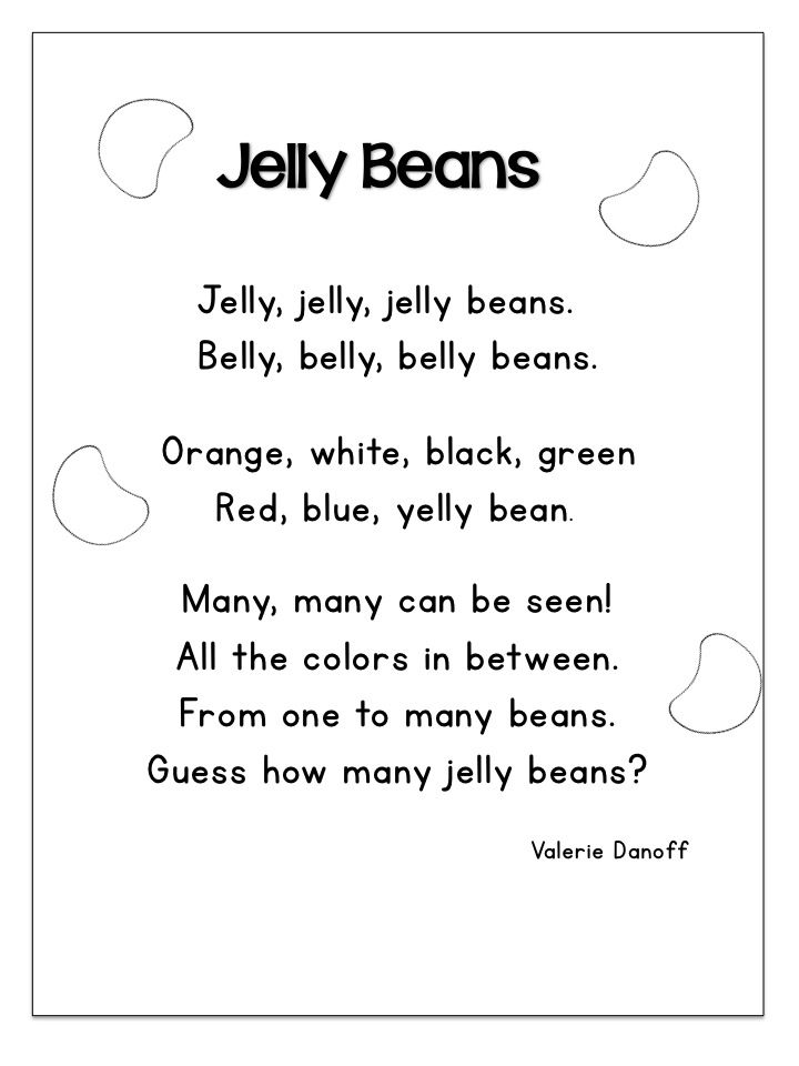poems for shared reading first grade