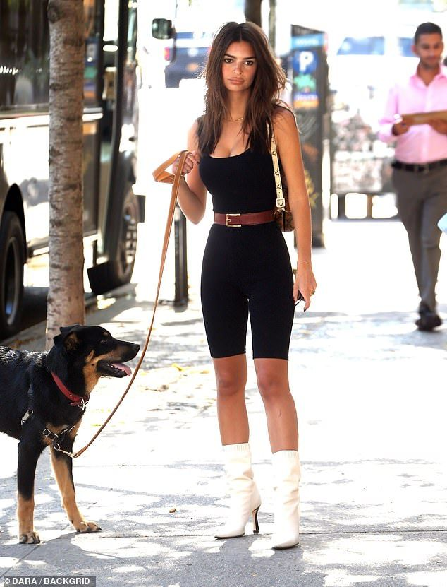 Emily Ratajkowski steps out for a stroll in a form
