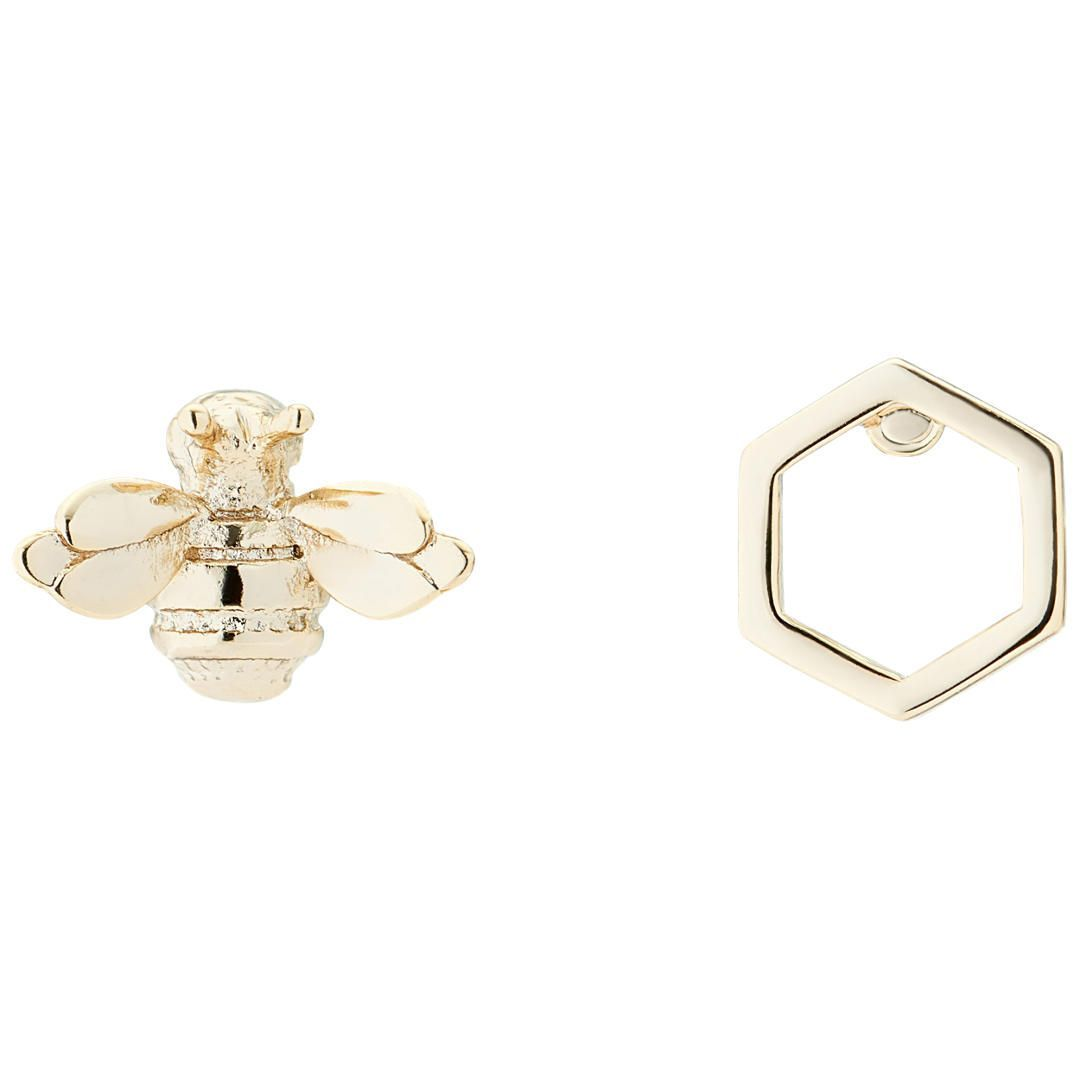 fe23f2691 BuyTed Baker Blesila Bumble Bee Stud Earrings, Gold Online at johnlewis.com
