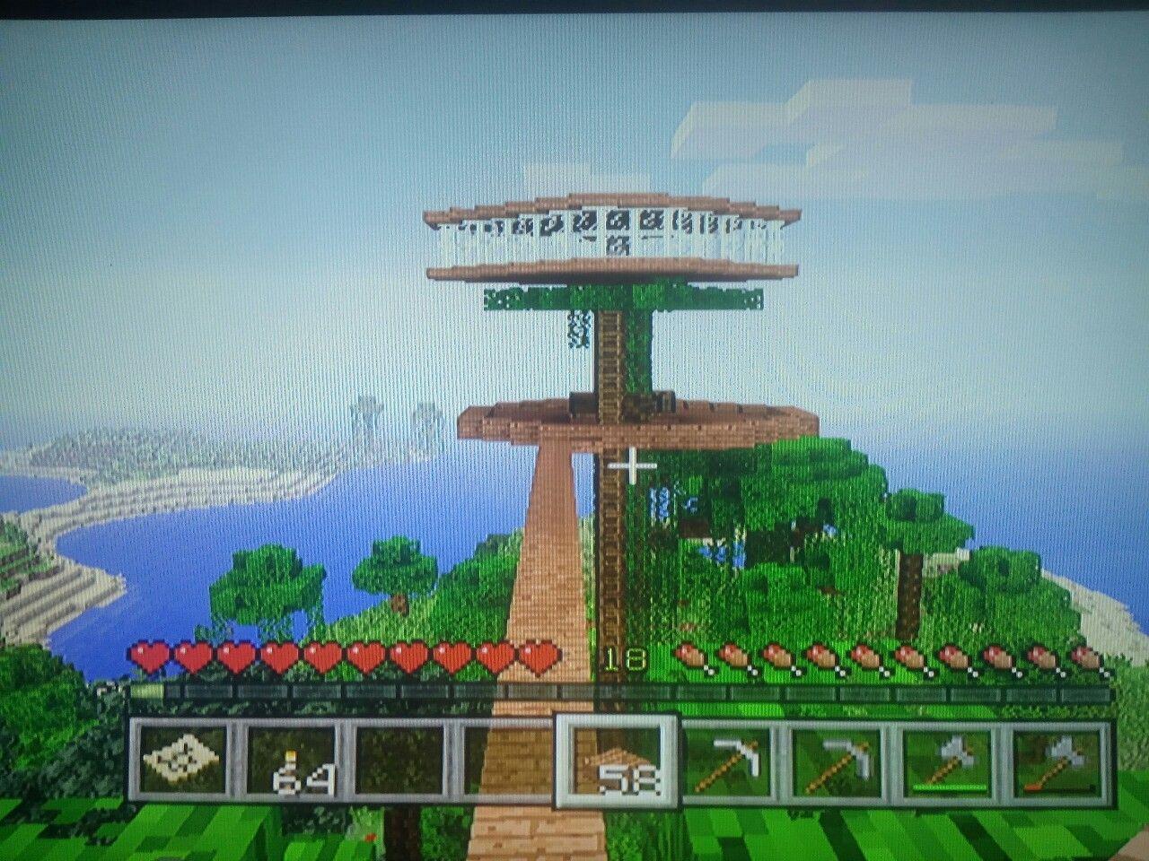 Perfekt Minecraft Baumhaus