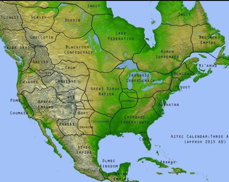 America before colonization Ive never seen this map in my