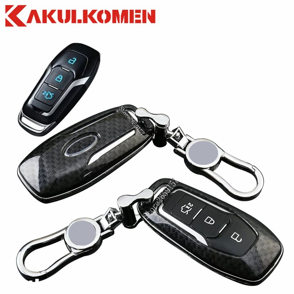 2018 Carbon Fiber Smart Car Auto Remote Key Fob Holder Case Cover Shell For Ford Mondeo 2 0t Mustang Edge Fusion Car Styling Review Ford Mondeo Smart Car Key Fob