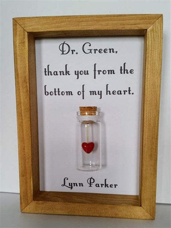 Gift For Doctor Surgeon Thank You By Undertheblossomtree