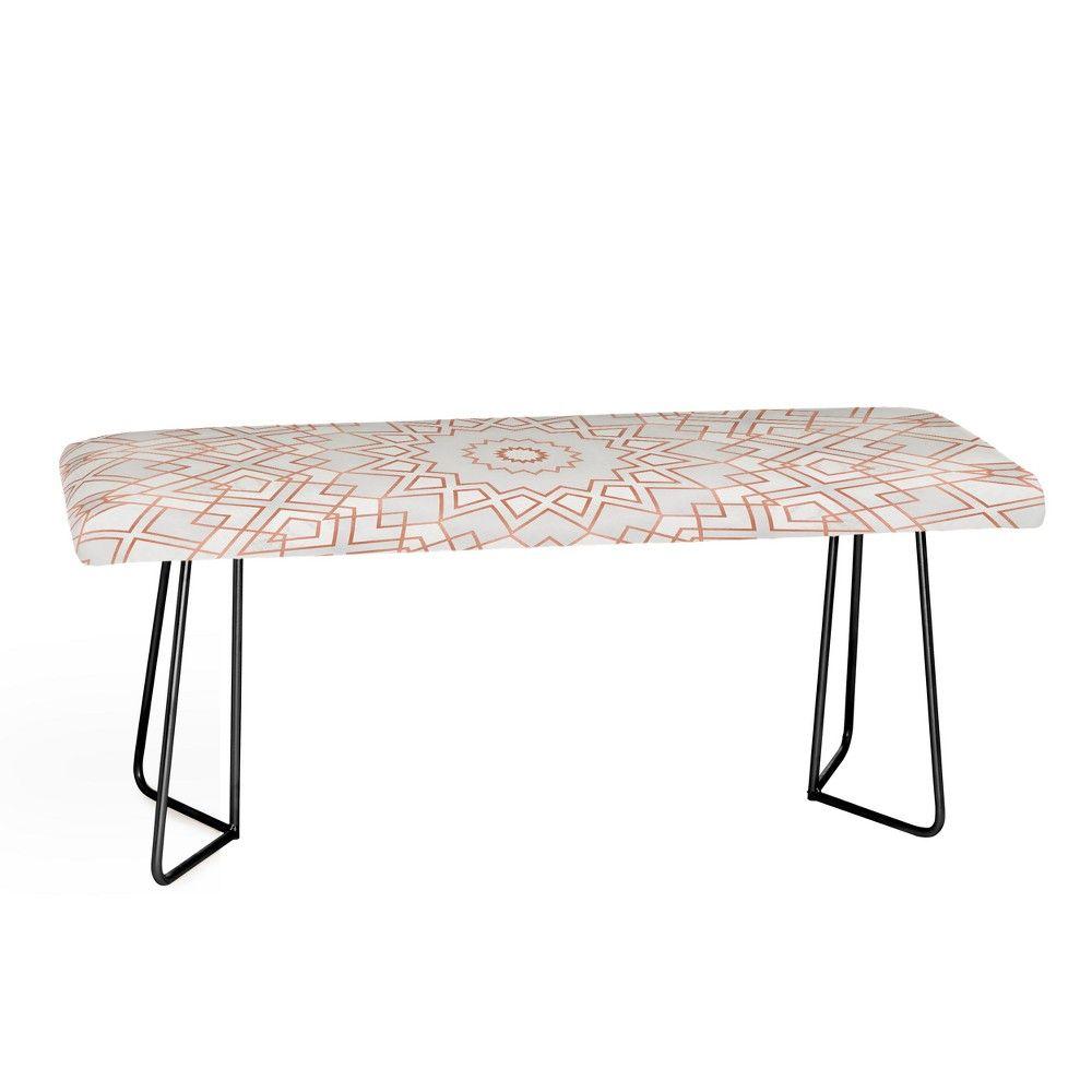 Superb Elisabeth Fredriksson Rose Mandala Bench With Black Aston Creativecarmelina Interior Chair Design Creativecarmelinacom