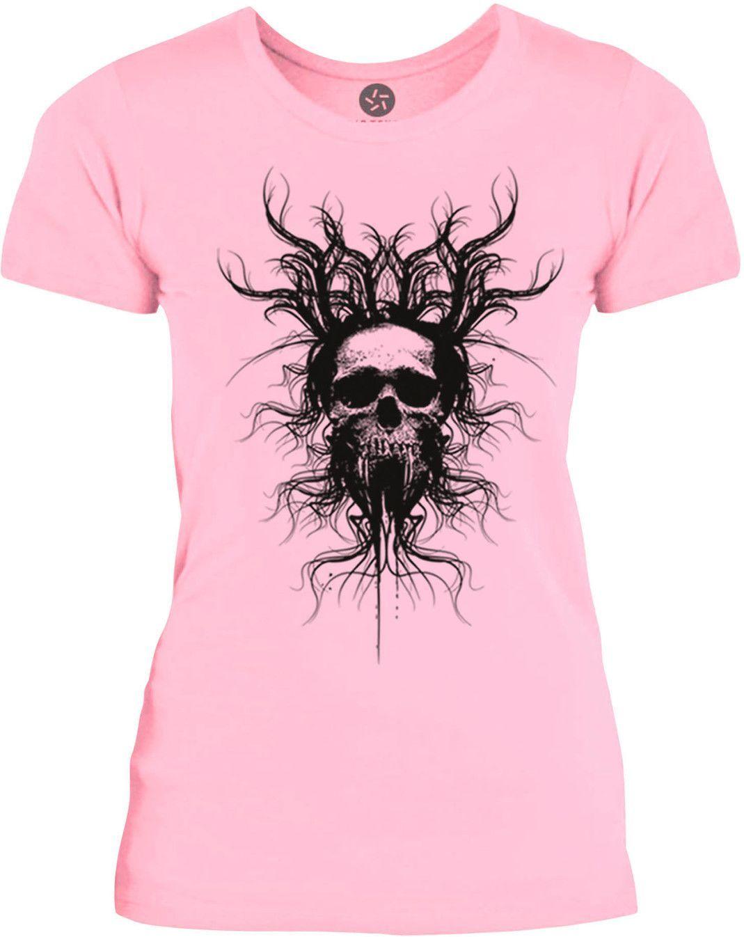 Big Texas Infected Skull (Black) Womens Fine Jersey T-Shirt