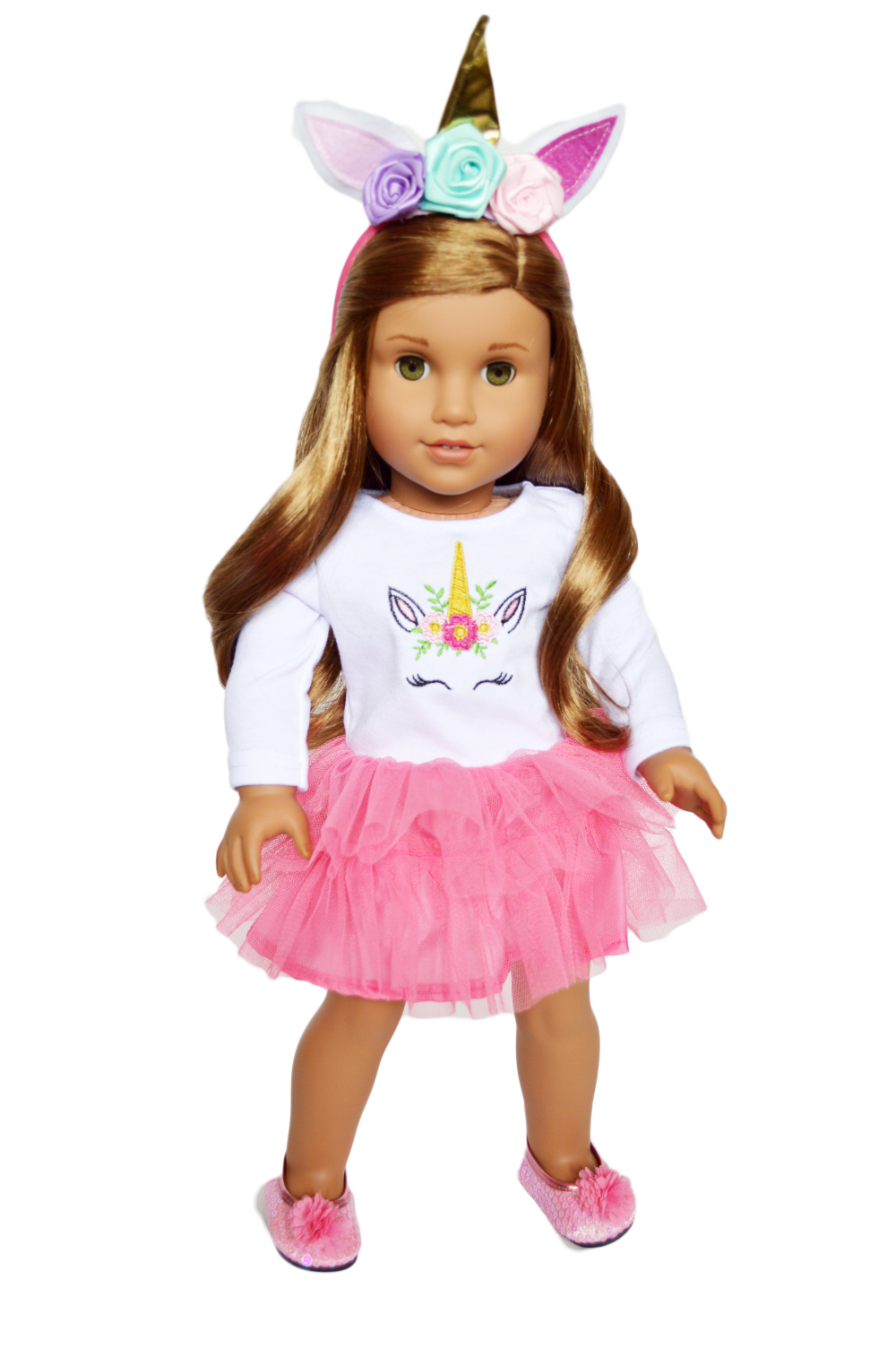 My Brittany's Pink Unicorn Outfit for American Girl Dolls and My Life as Dolls 18 Inch Doll Clothes - Walmart.com