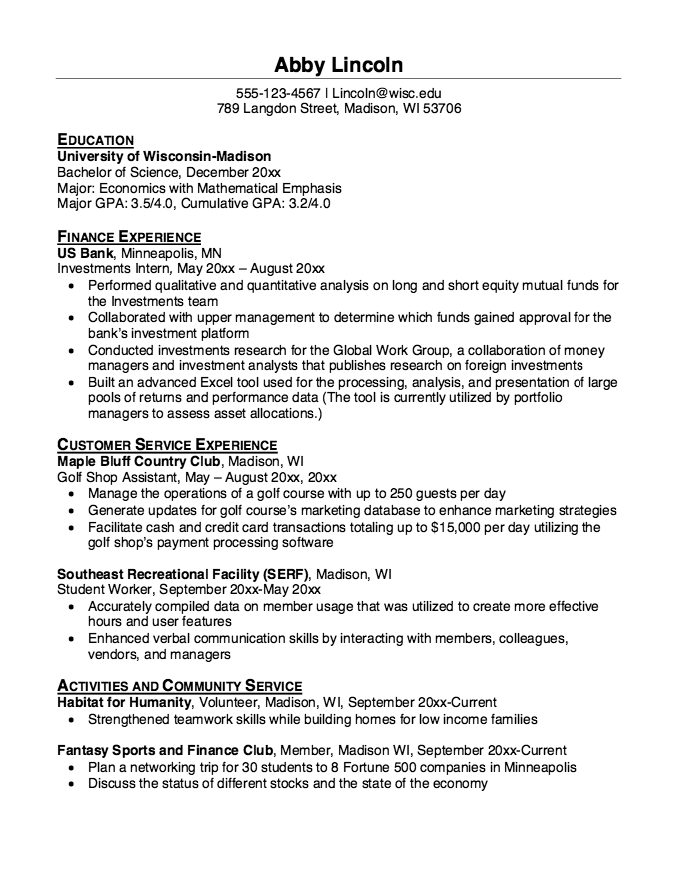 Resume For Golf Shop Assistant  HttpResumesdesignComResume