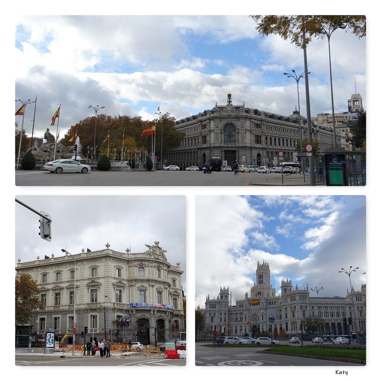 La Plaza De Cibeles Banco De Espana Palacio De Linares Y El Ayuntamiento Fotos Palacios Monumentos