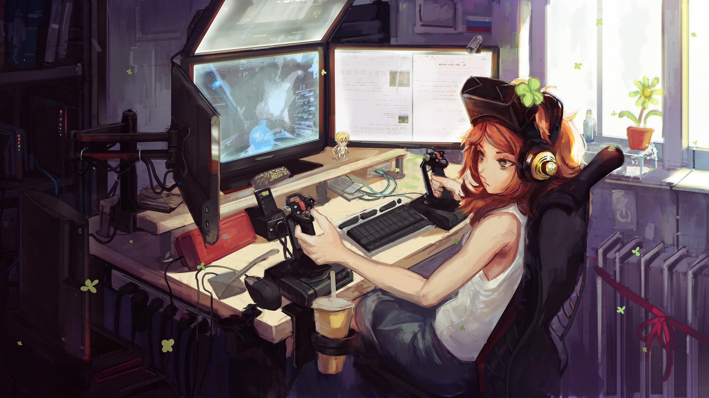 Kawaii Anime Gamer Girls Google Search Gadis Animasi Animasi Seni Anime