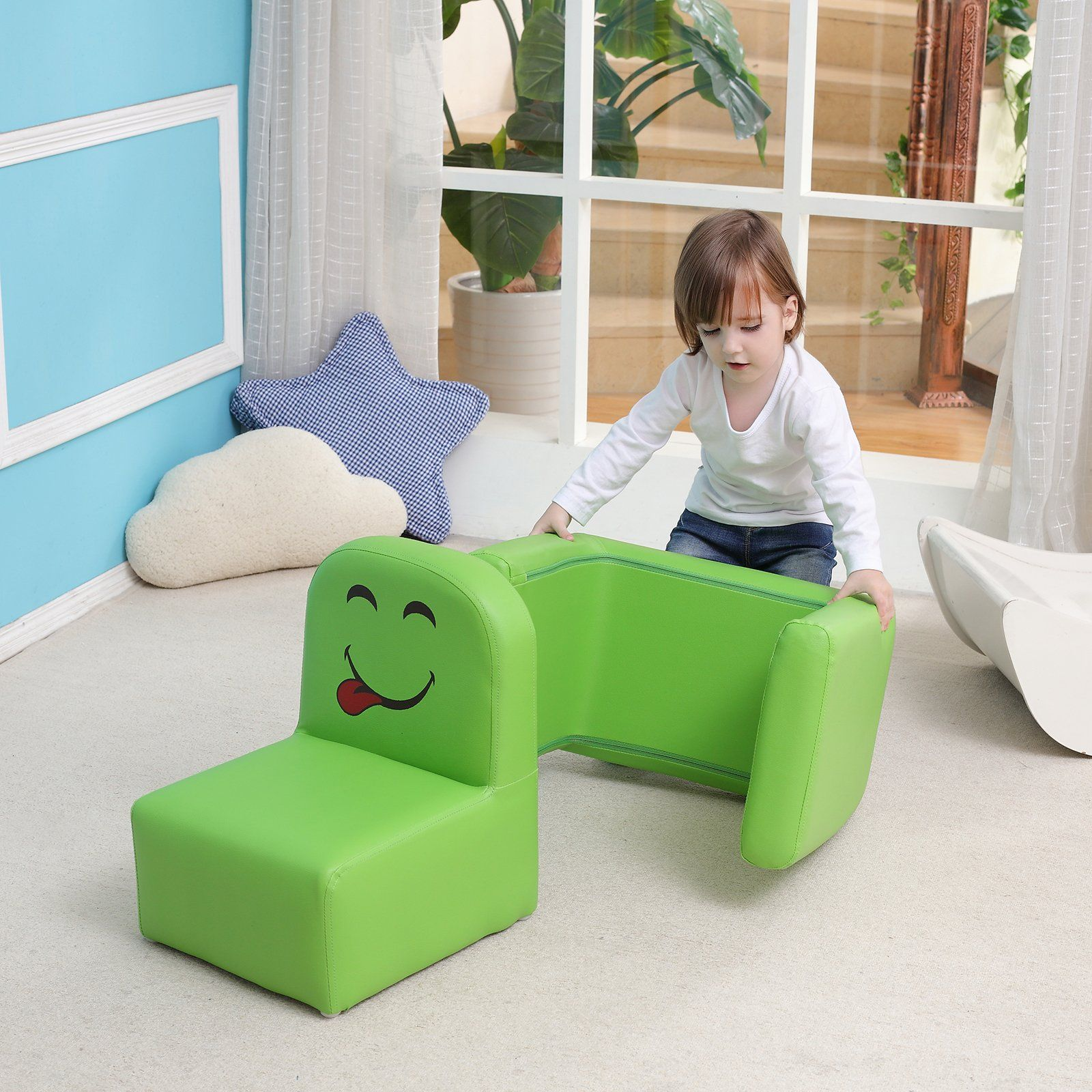 Case Of 30 Emall Life Multifunctional Childrens Armchair Kids Wooden Frame Chair And Table Set With Cartoon Toddler Sofa Childrens Armchair Wooden Frame Chair