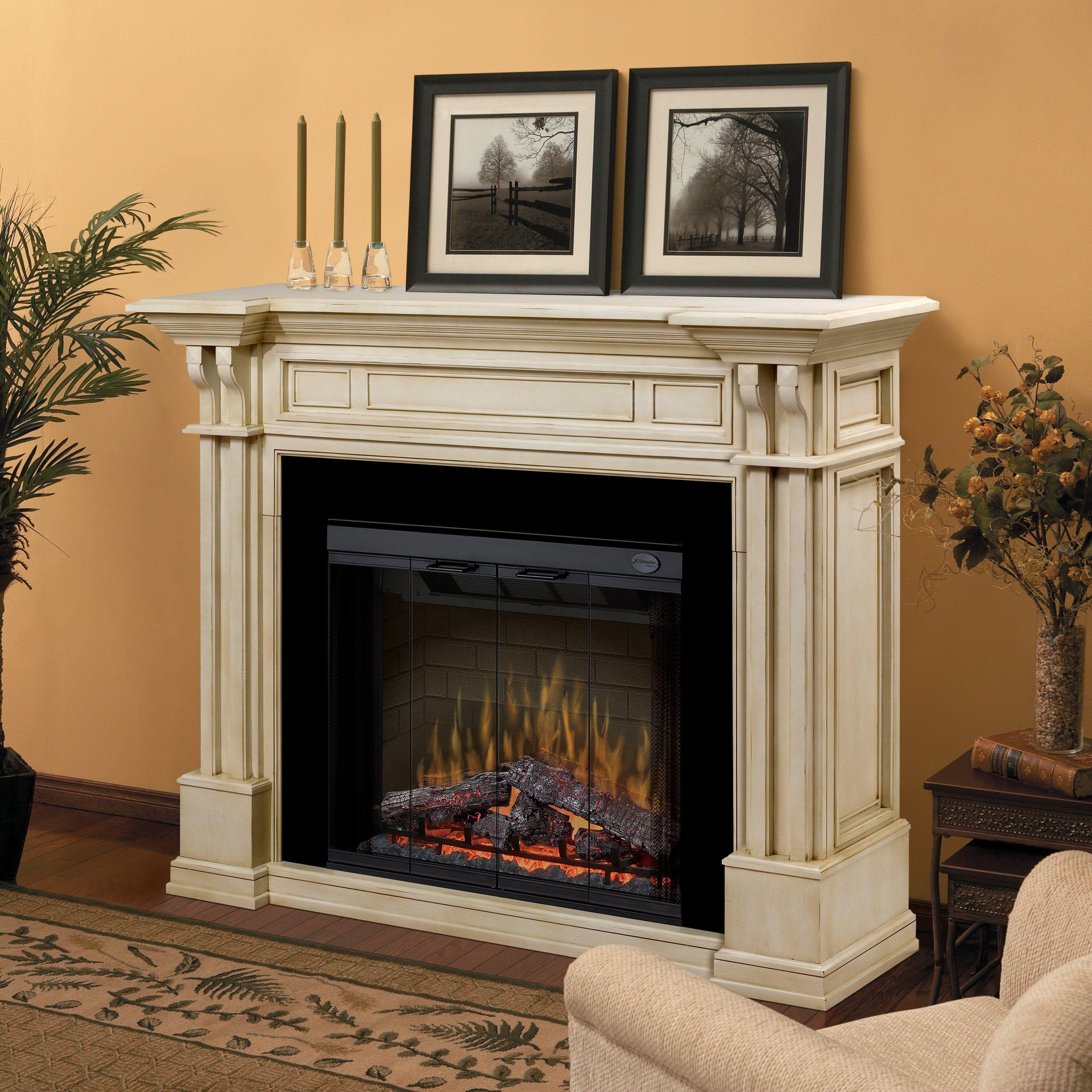 Have To Have It Dimplex Kendal Electric Fireplace Parchment  # Dimplex Foyer Electrique
