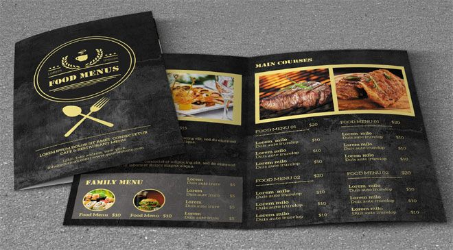 100+ Best Menu Card Templates Free Sample, Examples (2018