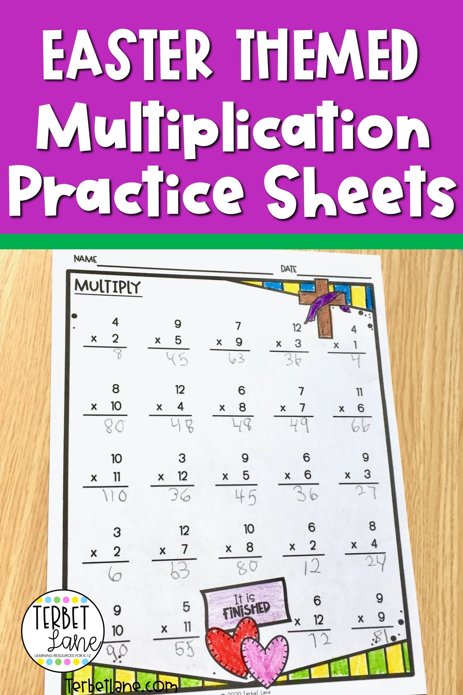Easter Multiplication Worksheets In With Images