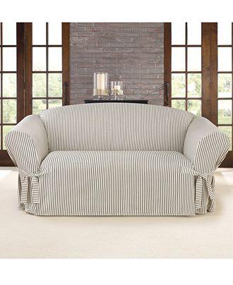 die besten 25 loveseat slipcovers ideen auf pinterest keine schonbezug n hen couch decken. Black Bedroom Furniture Sets. Home Design Ideas