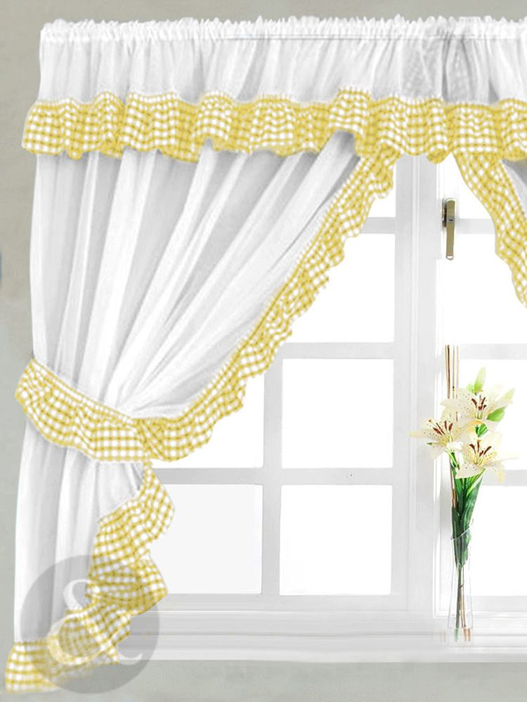 Yellow Kitchen Curtain Images   Google Search  Had These In My First Kitchen ^