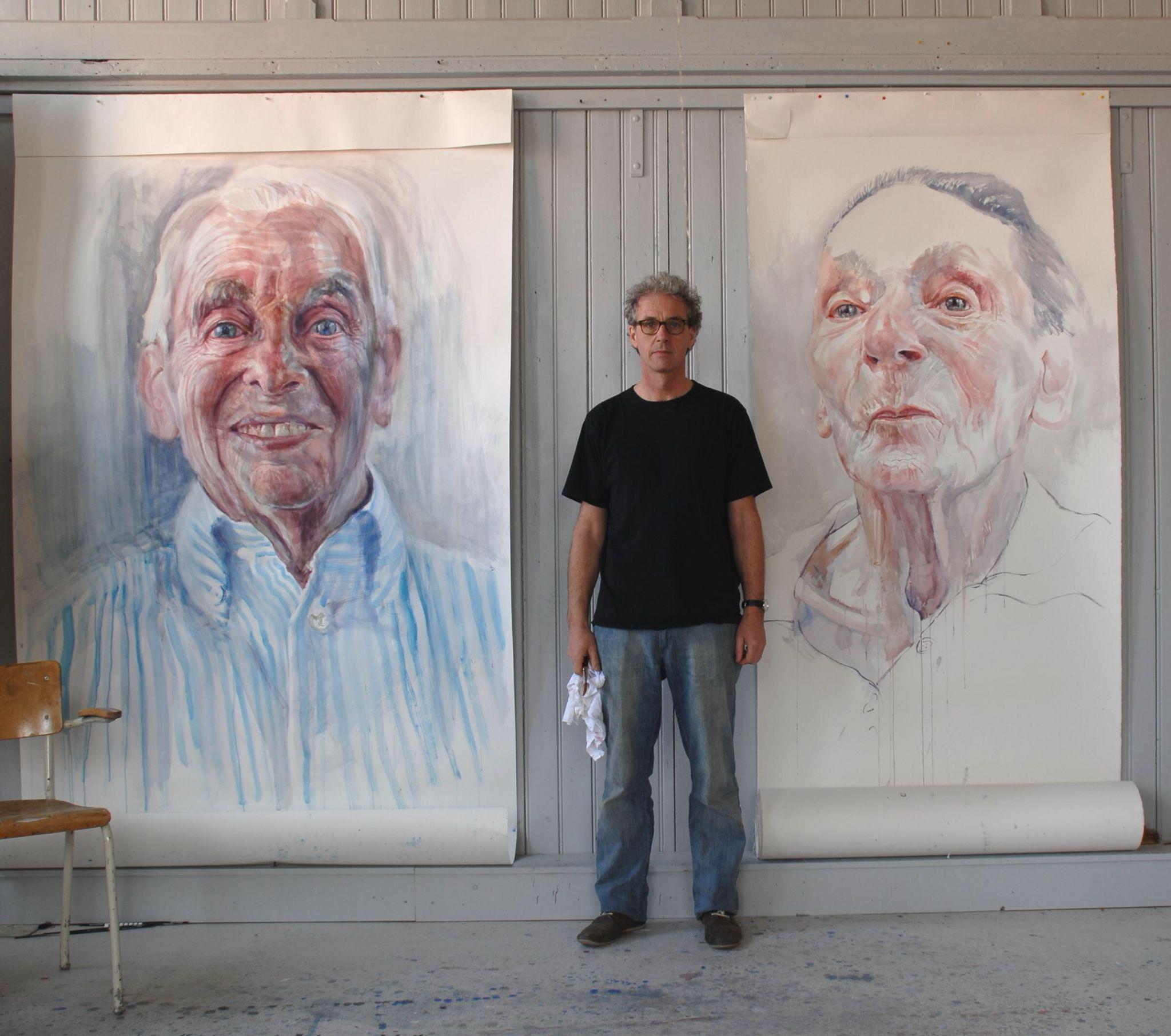 Herman van Hoogdalem, schilder van reeks Gezichten van dementie