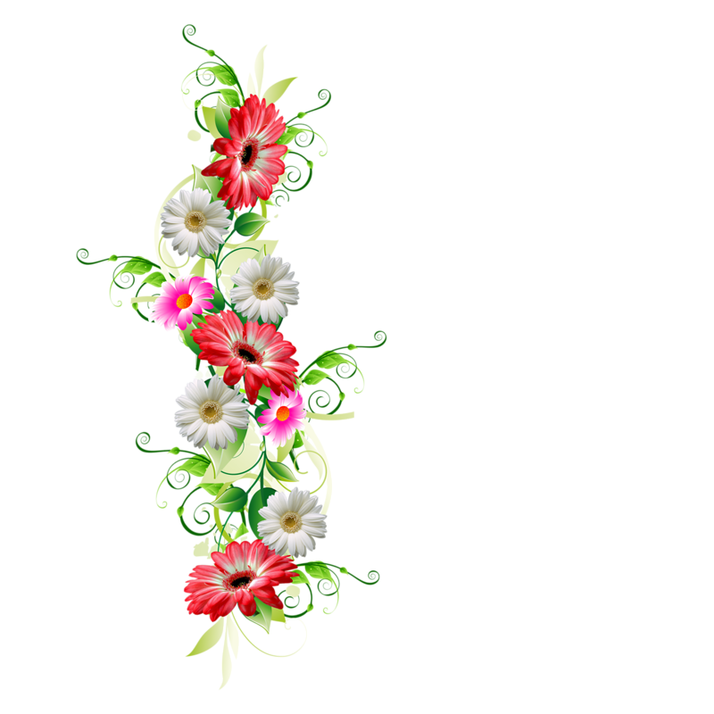 Картинки цветы боковые